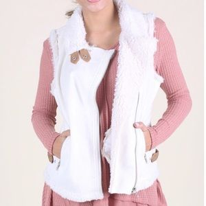 Altar'd State Shearling Faux Suede Vest